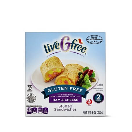 liveGfree Gluten Free Ham & Cheese Stuffed Sandwiches