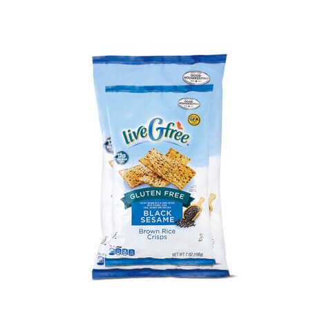 LiveGfree Black Sesame Brown Rice Crisps