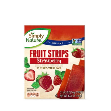 Simply Nature Strawberry Fruit Strips