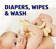 DIAPERS, WIPES & WASH.