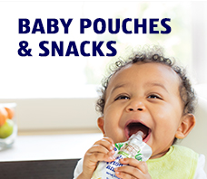BABY POUCHES & SNACKS.