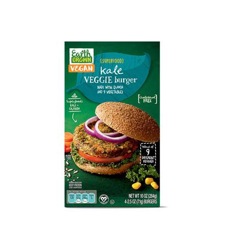 Earth Grown Kale Veggie Burger
