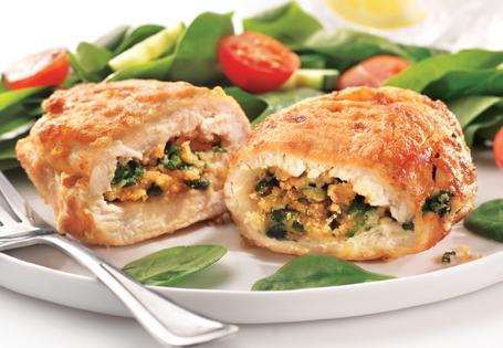 Spinach Stuffed Chicken Scaloppini