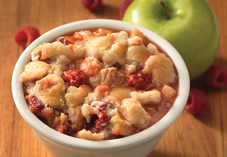 Homepage Recipes Desserts Pies & Cobblers Apple Raspberry Cobbler