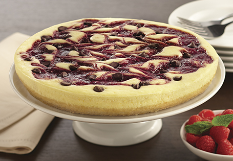 Chocolate Almond Raspberry Cheesecake