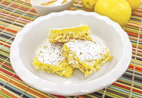 Coconut Crusted Lemon Bars