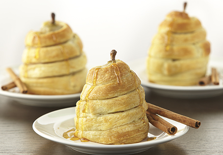 Honey Wrapped Pears