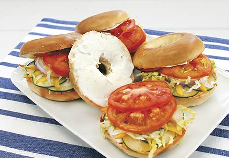 Mediterranean Bagel Sandwich