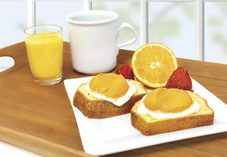 "Sweet Toast and ""Egg"" Breakfast"