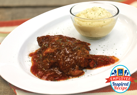 Swiss Steak with Cauliflower and Potato Puree