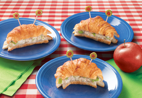 Tuna Salad in Crab Croissants