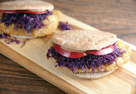 German Pork and Red Cabbage Sandwiches