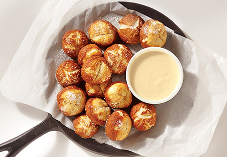 Bavarian Pretzel Nibblers with Beer Cheese Sauce
