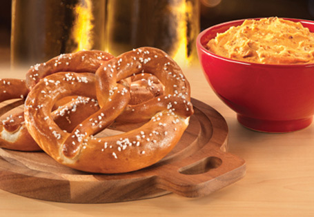 Soft-Baked Pretzels with Bavarian Cheese Spread