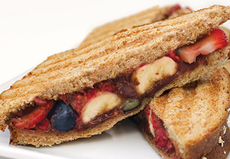 Fruit and Hazelnut Panini