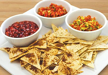 "... & Snacks Kids' Fruit and Veggie ""Salsa"" with Tortilla Crisps"