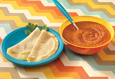 Vegetable Tortilla Soup with Cheese Quesadilla