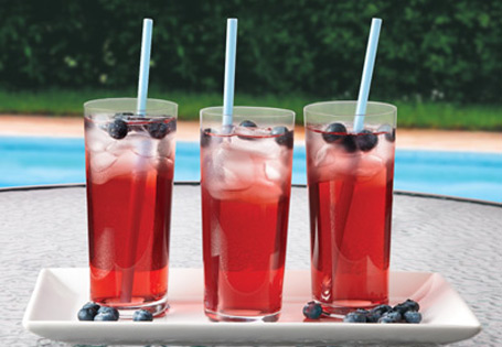 Red, White and Blue Berry Cooler