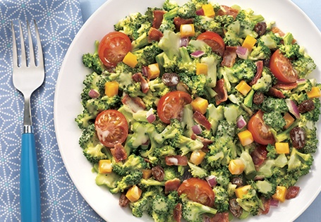 Broccoli Salad with Bacon and Tomato