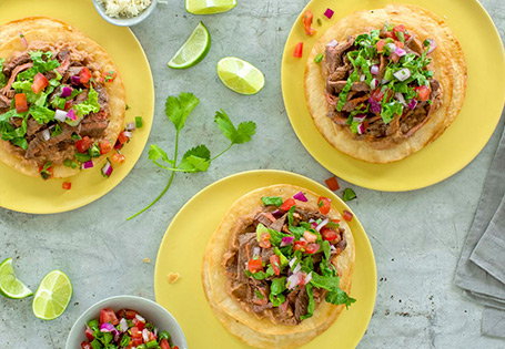 Carne Asada Tostada with Pico de Gallo