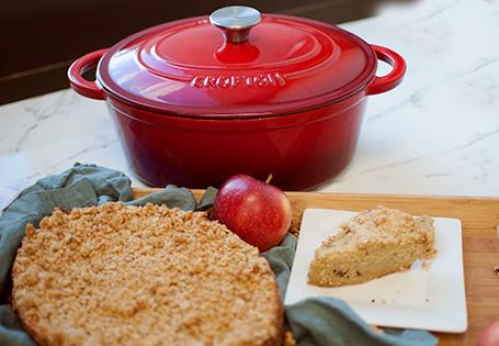 French Oven Apple Walnut Streusel Cake