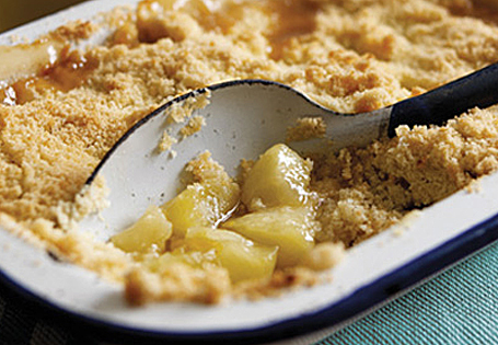 Individual Poached Pear Crumble