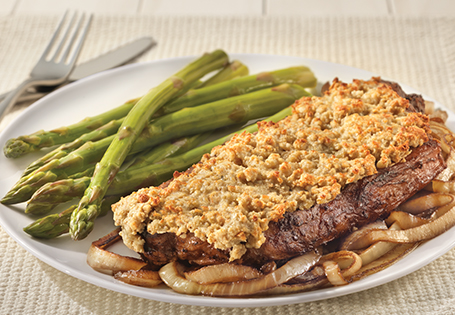 Blue Cheese Crusted Strip Steak