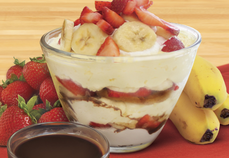 Greek Yogurt Banana Split Trifle