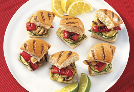 Grilled Vegetable Sliders