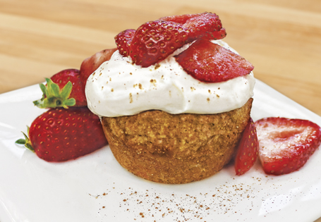 Strawberry Oatmeal Cakes