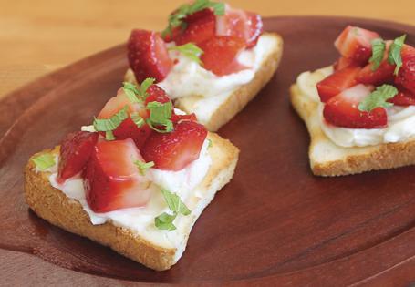 Sweet Strawberry Bruschetta