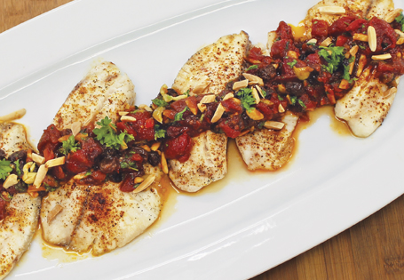 Tilapia with Tomato Chutney