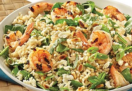 Mediterranean Rice Salad with Shrimp