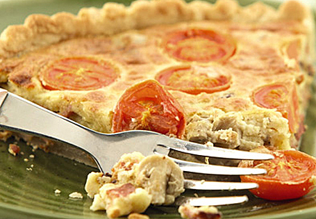 Bacon, Tomato and Mushroom Quiche