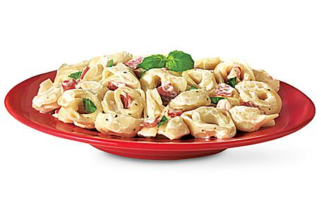 Tortellini in Roasted Garlic Alfredo Sauce