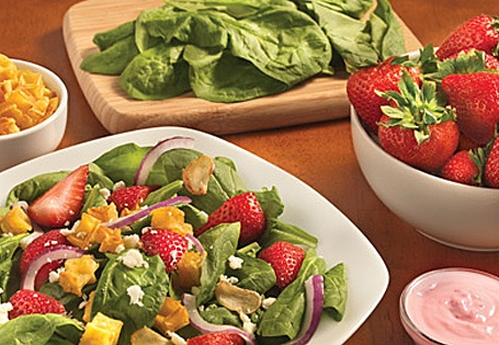 Fresh Summer Spinach Salad