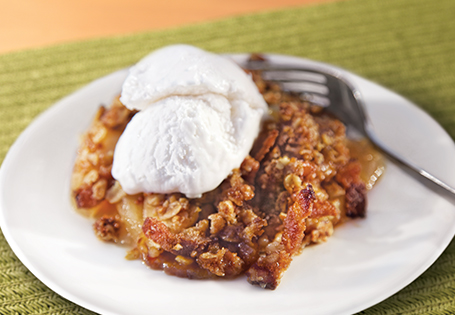Cranberry Apple Granola Walnut Cobbler
