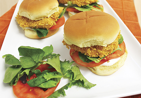 Corn Flake Crusted Ranch Chicken Sandwich