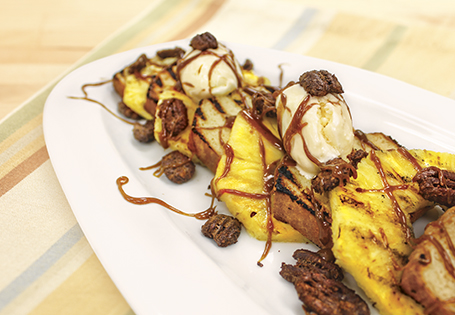 Grilled Caramel Pineapple