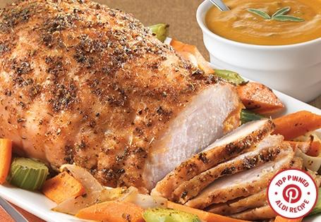 Roasted Turkey Breast with Pumpkin Sage Gravy