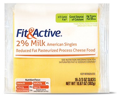 Fit and Active 2% American Cheese Singles