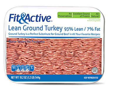 Fit and Active 93% Lean Fresh Ground Turkey