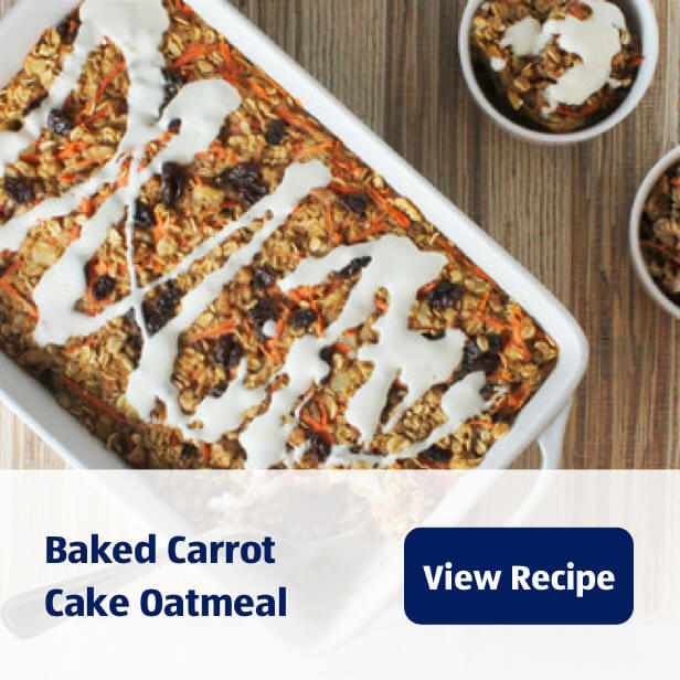 Baked Carrot Cake Oatmeal. View Recipe.