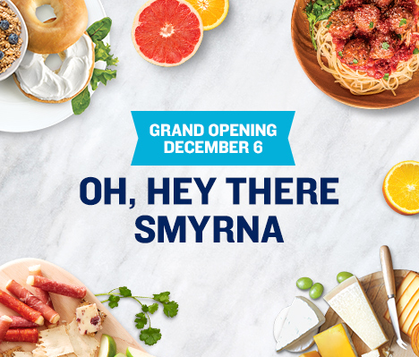 Grand Opening December 6. Oh, hey there Smyrna.