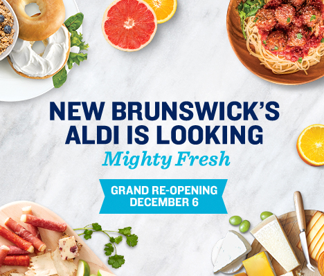 New Brunswick's ALDI is looking mighty fresh. Grand Re-opening December 6.