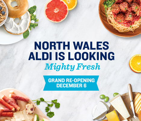 North Wales' ALDI is looking mighty fresh. Grand Re-opening December 6.