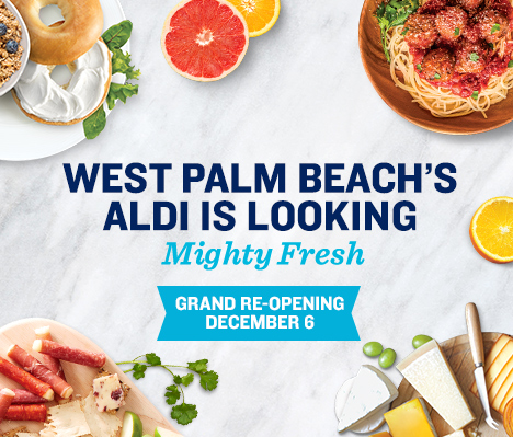 West Palm Beach's ALDI is looking mighty fresh. Grand Re-opening December 6.