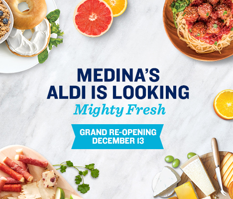 Medina's ALDI is looking mighty fresh. Grand Re-opening December 13.