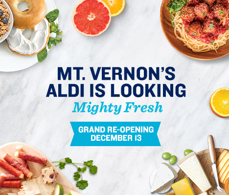 Mt. Vernon's ALDI is looking mighty fresh. Grand Re-opening December 13.