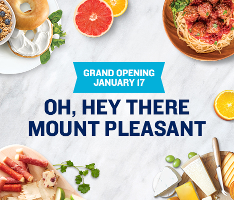 Grand Opening January 17. Oh, hey there Mount Pleasant.